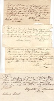 1833-42 Montgomery County Various Receipts