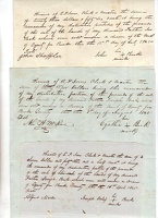 1845 Burke County Receipts Estate Joseph Beck -1