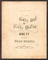 1857 Katy-Did And Katy Didn't Rosa Hughes