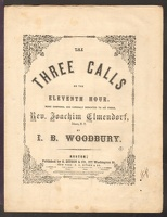 1858 Three Calls Or The Eleventh Hour I B Woodbury