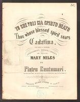 1860 Thou Whose Blessed Spirit Soars Mary Miles Pietro Centemeri
