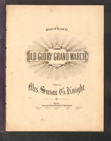 1863 Old Glory Grand March Susan Knight ca1863