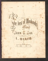 1865 Best Of Husbands John G Sax L Heath Boston MA