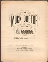 1870 Prisoned In A Cage from The Mock Doctor Ch Gounod ca1870