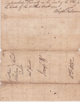 1774 Warren County Arrest Warrant for Ludson Worsham by Johnson for Watkins -2