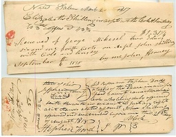 1817-8 Fairfield New Salem Receipts -1