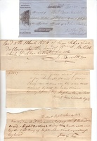 1813-62 Bennington Dorset Receipts Martindale -1